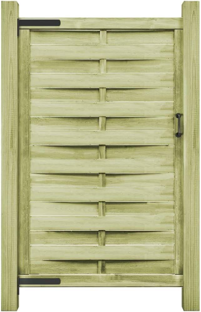 vidaXL Puerta de Valla de Jardín Madera Impregnada Verde 100x200 cm Cancela Cercado: Amazon.es: Bricolaje y herramientas