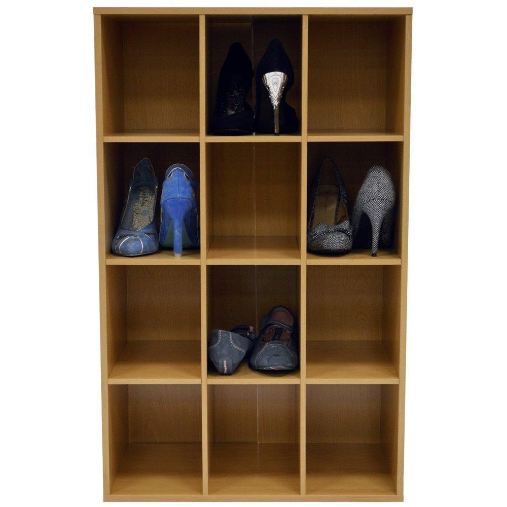 WATSONS - ÉtagÈre a chaussures a 12 compartiments - finition hetre