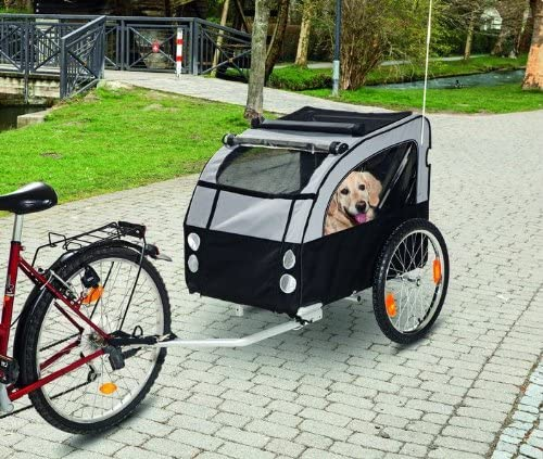 Teflón perro bicicleta remolque remolque de bicicleta hasta 40 kg ...