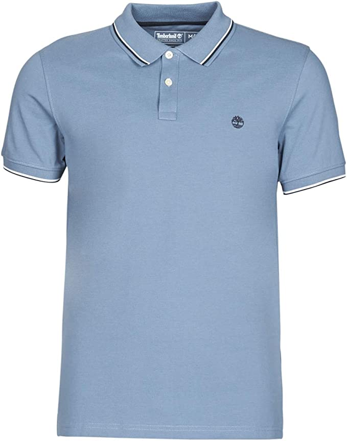 No esencial insondable He aprendido  Timberland SS Millers River Pique Tipped Polo (Slim) T-Shirts & Polo Shirts  Men Blue - M - Short-Sleeved Polo Shirts: Amazon.co.uk: Clothing