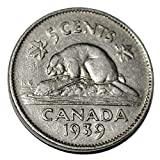 Canada 1939 5 Cents George VI Canadian Nickel