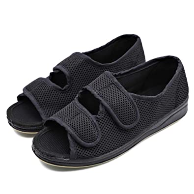 5e566a78b80 Image Unavailable. Image not available for. Color  MEJORMEN Womens Diabetic  Shoes Adjustable Open Toe Slippers Extra Wide Width ...