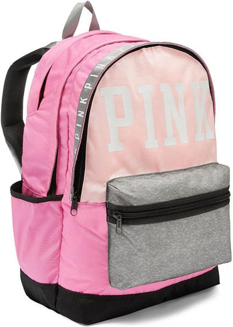 VICTORIAS SECRET PINK CAMPUS BACKPACK FULL SIZE BLACK BLING SEQUIN SCHOOL BAG