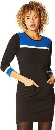 Roman Originals Vestido de punto de bloque de color para mujer