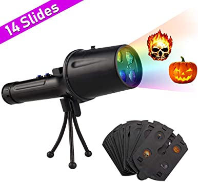 Lámpara de Proyector LED Halloween,RiboEU Handheld Halloween ...