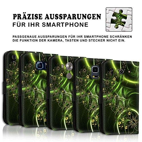 Wallet Book Style Flip Handy Tasche Case Schutz Hülle Schale Motiv Etui für Apple iPhone 6 / 6S - Design Flip MV285