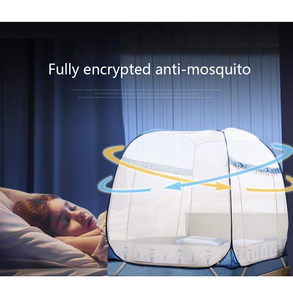 YXQ- Mosquito Net - Yurt Type Does Not Installation Require Three-Door Encryption Padded Mosquito Net - Size: Suitable for 5 Foot Bed, for 6 Foot Bed Mosquito net (Size : Suitable for a 6 Foot Bed) by YXQ- (Image #5)