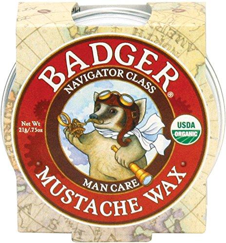 Badger Mustache Wax - .75oz Tin