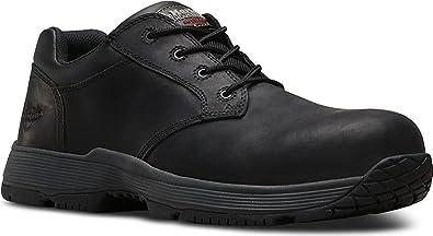 Dr. Martens Men's Linnet Static Dissipation ST 4 Eye Shoes, Black Leather,  Rubber