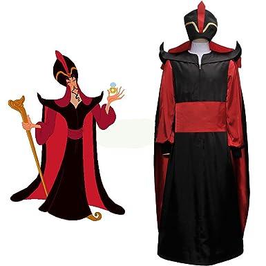 Cuterole Men's Aladdin Jafar Villain Costume Adult Aladdin Cosplay Costume  Custom