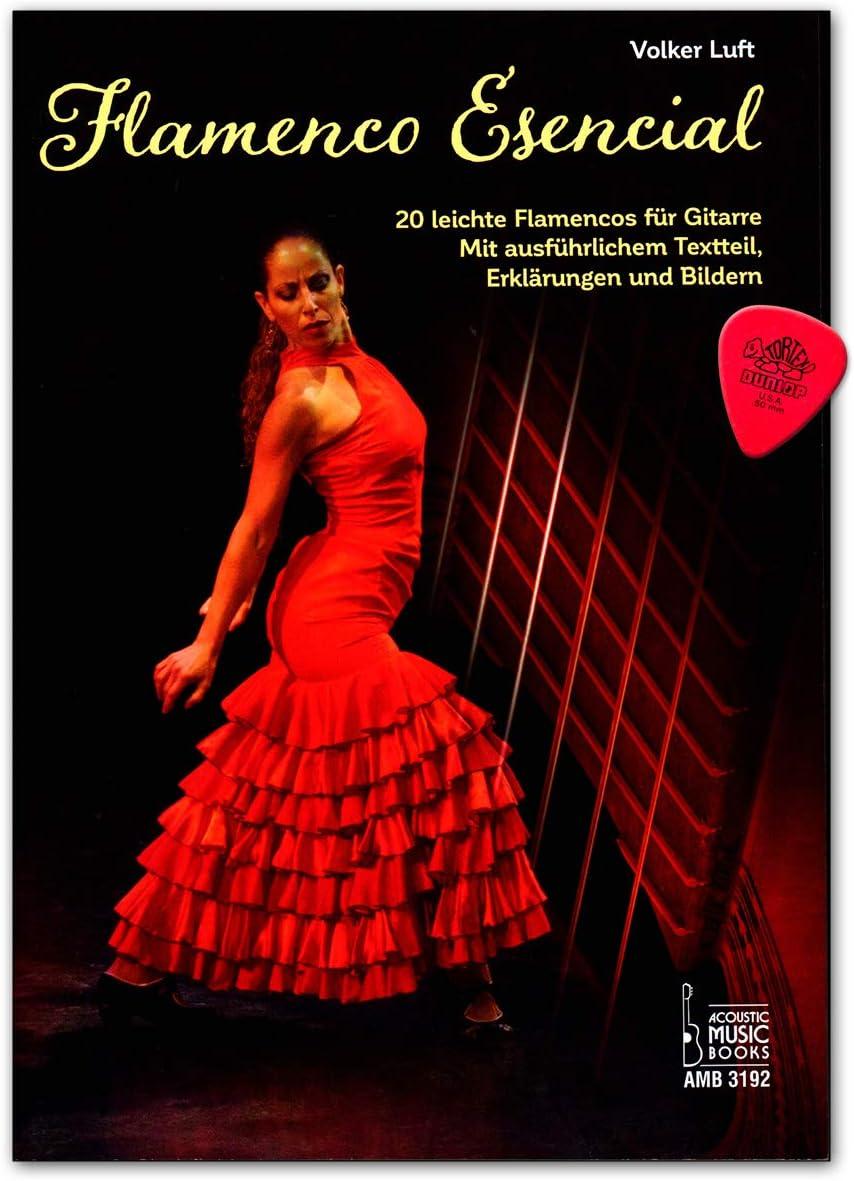 Flamenco Esencial – 20 flamencos ligeros para guitarra acústica con texto detallado, declaraciones e imágenes. Plek 9783869473925 - Notas y tabulaturas
