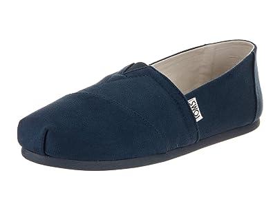350649c821d TOMS Navy Microfiber Women s Classics Slip-on Shoes (6.5)