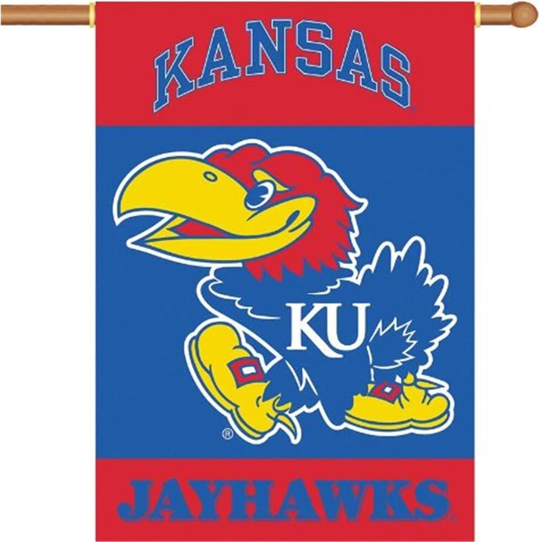 Kansas Jayhawks KU NCAA 2-Sided 28 X 40 Banner W/ Pole Sleeve