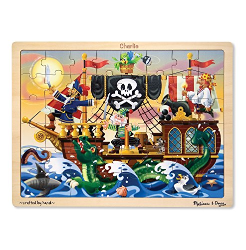 Melissa & Doug Pirate Adventure Wooden Jigsaw Puzzle