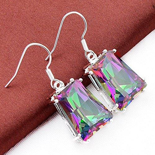 phitak shop Unique Fashion Silver Jewelry Rainbow Mystic ...
