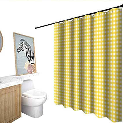 Amazon Checkered Funny Shower Curtain Classic English Pattern