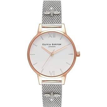 Reloj de mujer Olivia Burton OB16ES04 de malla de acero: Amazon.es: Relojes