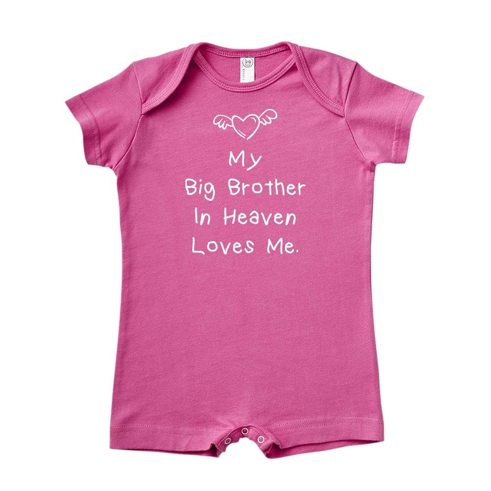 Baby Romper My Big Brother in Heaven Loves Me