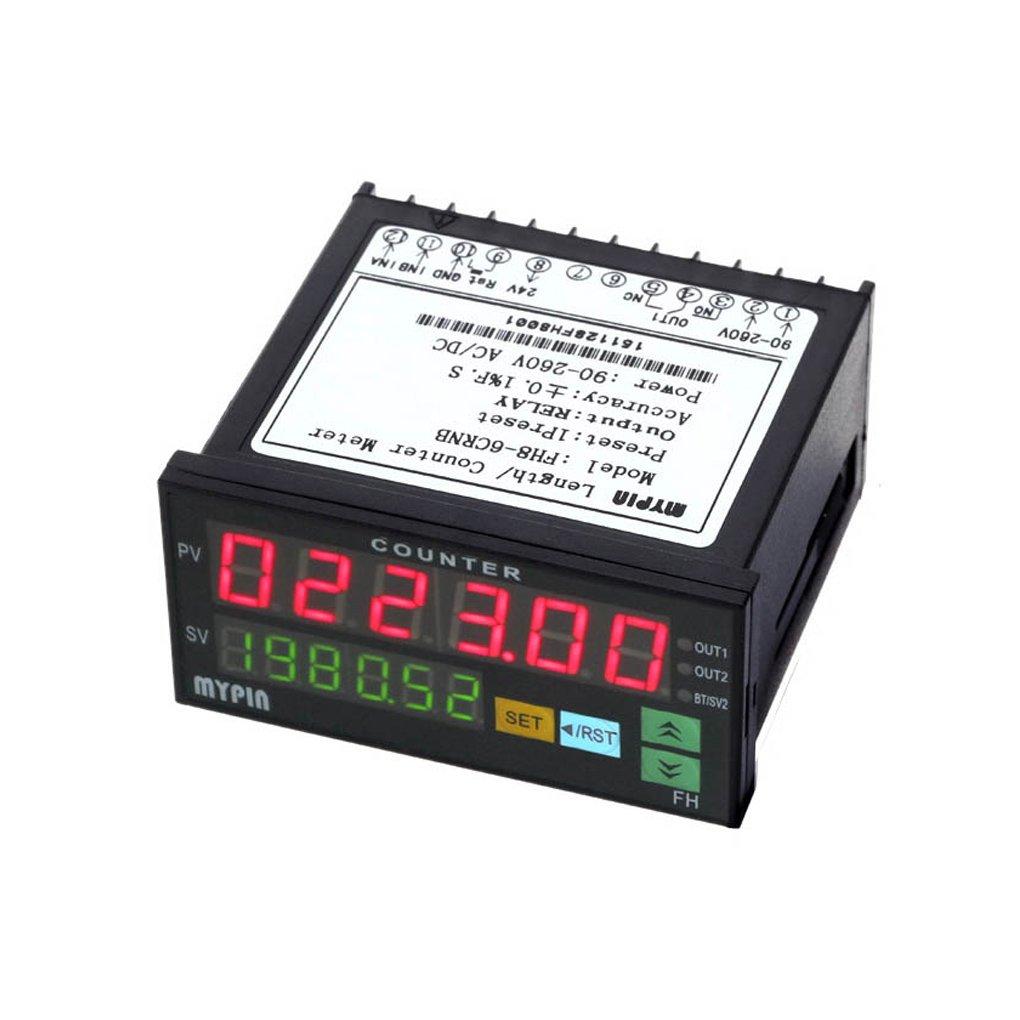 Pegcdu Longitud lotes mypin Fh8-6Crnb Digital Contador electrónico mini medidor de salida de relé 1 preestablecido Contando Meter: Amazon.es: Bricolaje y ...
