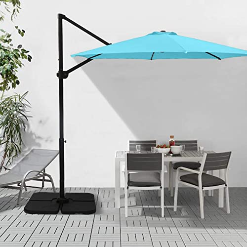 Ginelite 10Ft Luxury Cantilever Umbrella Patio Umbrella Olefin Fading Resistant Canopy Sun Umbrella 360 Rotation Heavy Duty Aluminum Pole