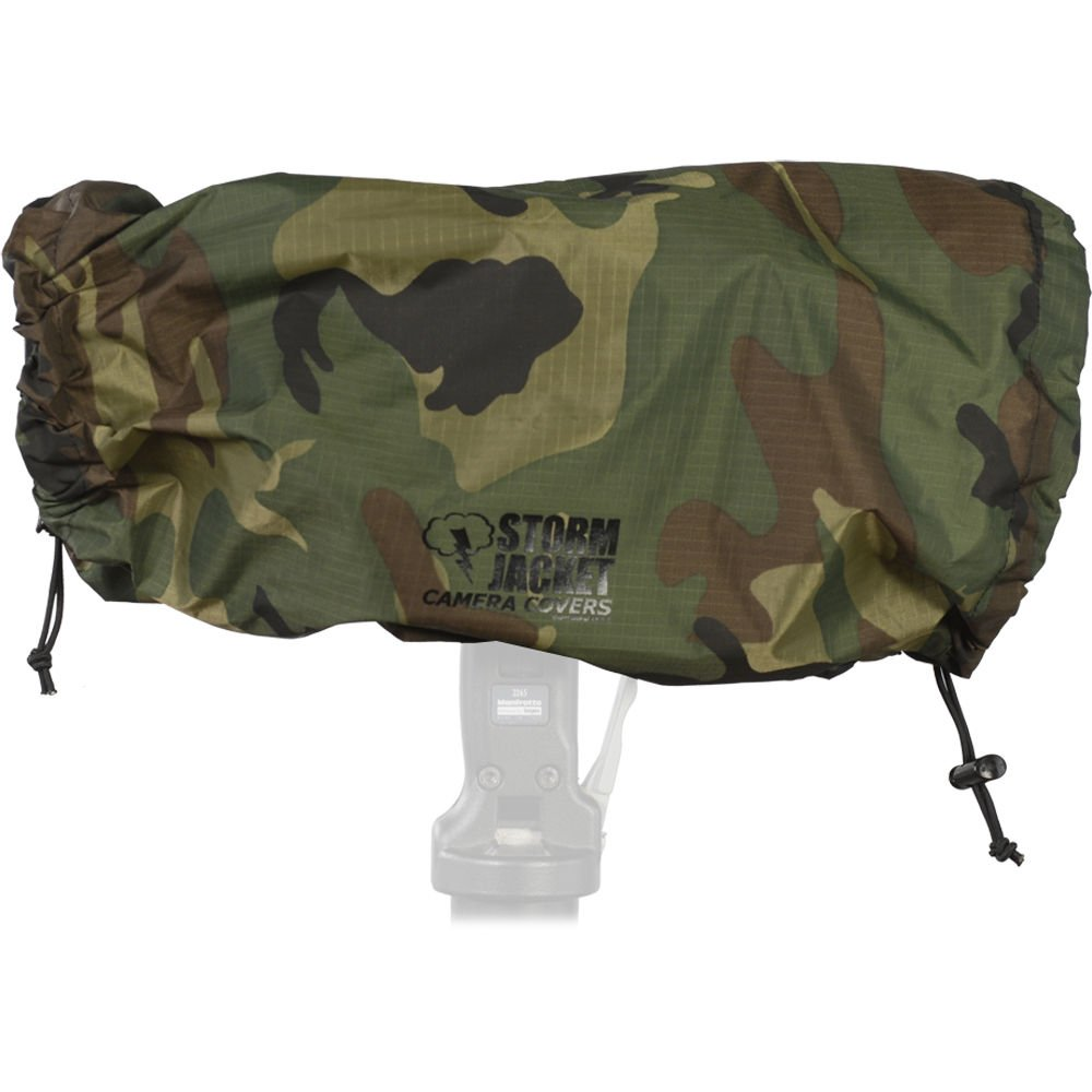 Vortex Media Pro Storm Jacket Cover for an SLR Camera with a Extra Large (XL) Lens Measuring 14'' to 27'' from Rear of Body to Front of Lens, Color: Camo