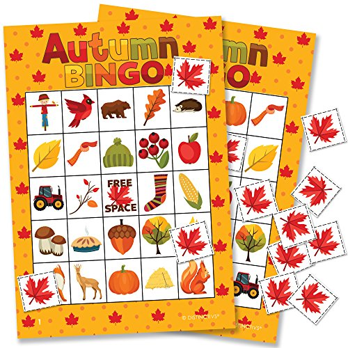 Autumn Fall Festival Bingo Game - 24 Players by DISTINCTIVS
