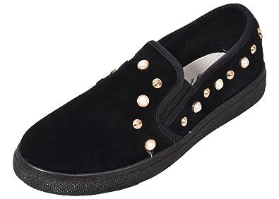 New Ladies Loyalty /& Faith Velvet Platform Sneaker Slip on Flats Plimsolls Pumps