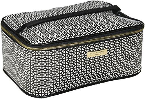 Mor Barcelona Train Case, Black/White (Barcelona Handbag)