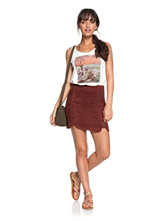 c86a7d62c Roxy Womens The Cactus Chronicle - Faux Suede Skirt - Women - Xs - Red  Andora