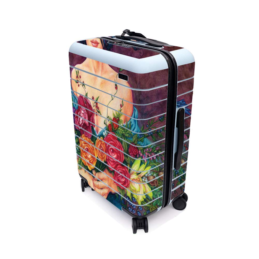 MightySkins Skin for Away The Bigger Carry-On Suitcase - Eye Bouquet   Protective, Durable, and Unique Vinyl Decal wrap Cover   Easy to Apply, Remove, and Change Styles   Made in The USA