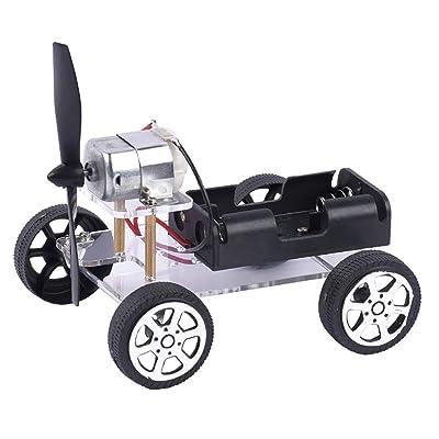 N2 jikaixiang DIY Wind Car Model Technology Science Experiment Educational Toy Teach Kit Gift DIY Cartoon Animal Art Craft Kid Toy: Home & Kitchen