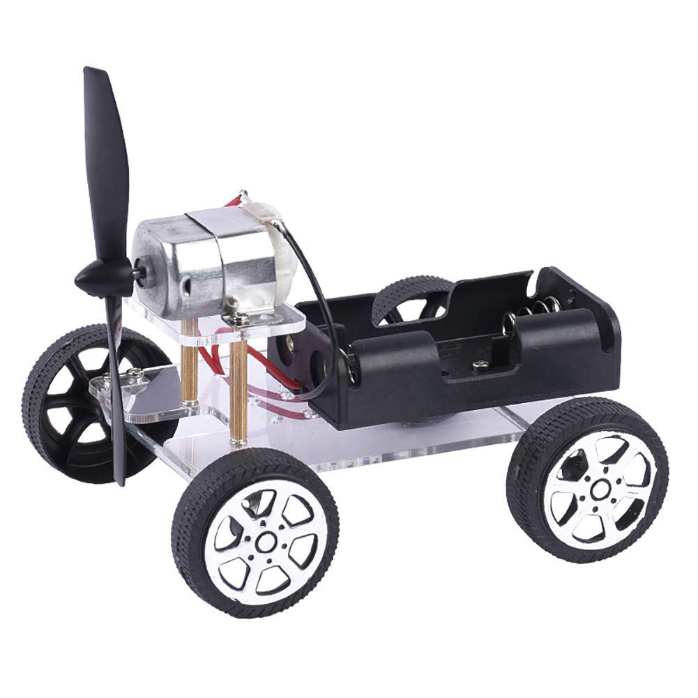 Lx10tqy DIY Educational Toy Wind Car Model Technology Science Experiment Teach Kit Gift