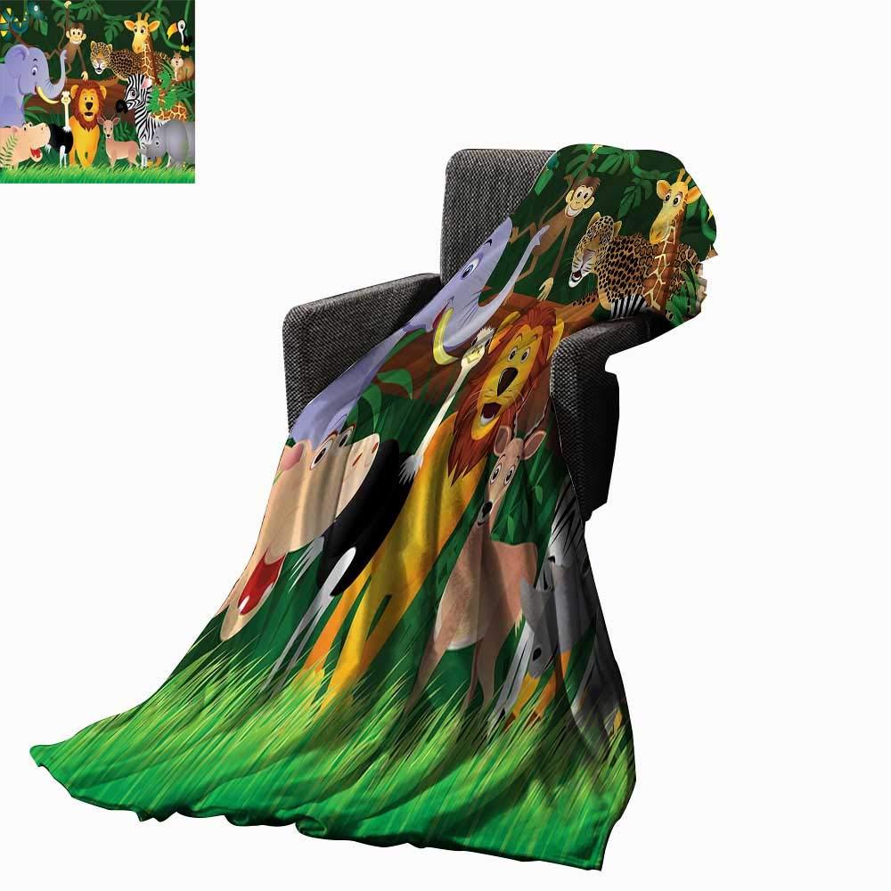 Amazon.com: Luckyee Zoo Digital Printing Blanket Animals in ...