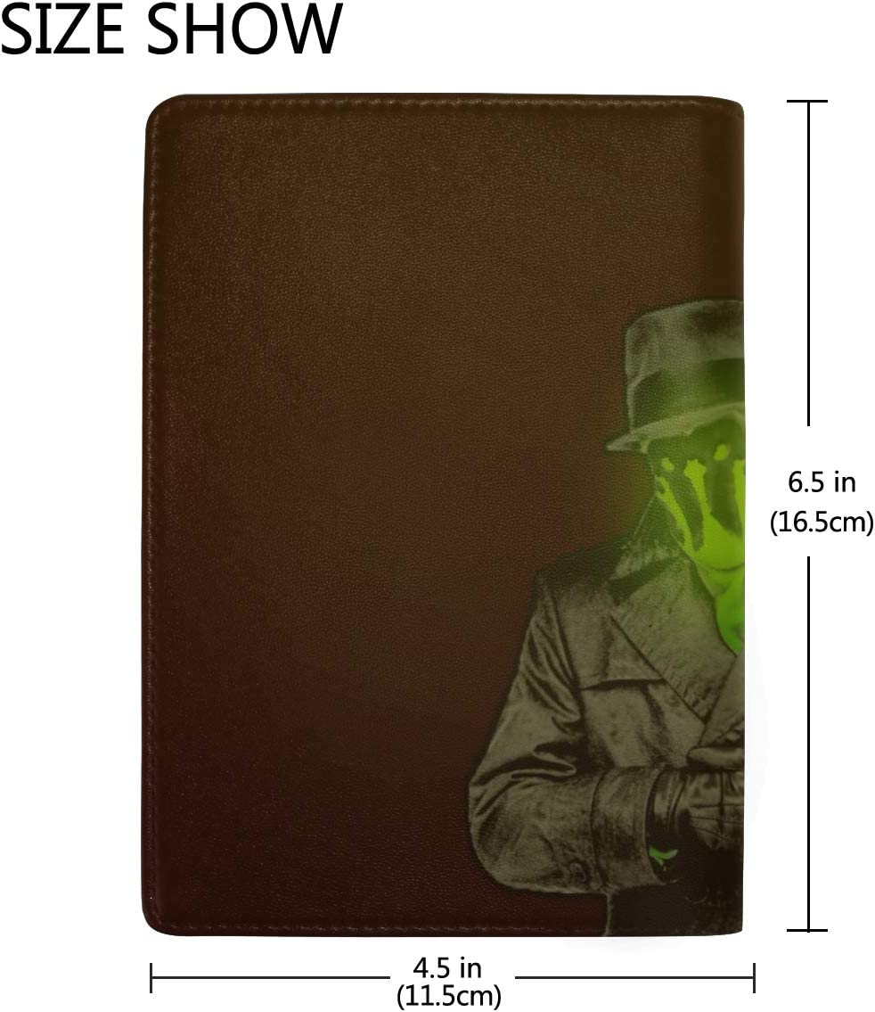 Rorschach Keepers Acid Emptiness Art Leather Passport Holder Cover Case Travel One Pocket