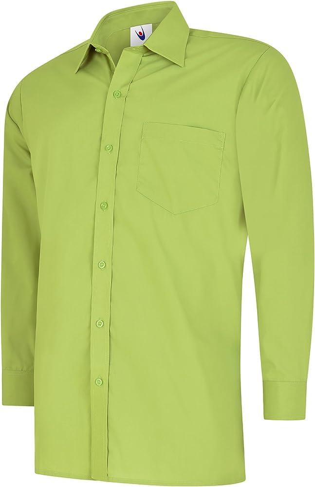 Uneek clothing - Camisa formal - para hombre Azul verde lima talla única: Amazon.es: Ropa y accesorios