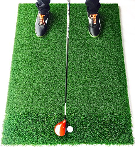 StrikeDown Dual-Turf Tour Golf Hitting Mat (48in x 36in) by Motivo Golf by Motivo Golf