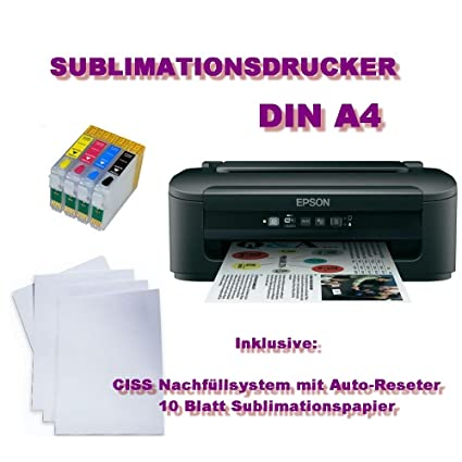 Impresora de sublimación – DIN A4 CISS 200 ml de tinta ...