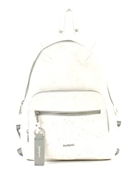 Desigual Mochila Escolar Mochila Metallic Splatter Lima Aprox. 8l Blanco 18saxpd0 - 1001: Amazon.es: Equipaje