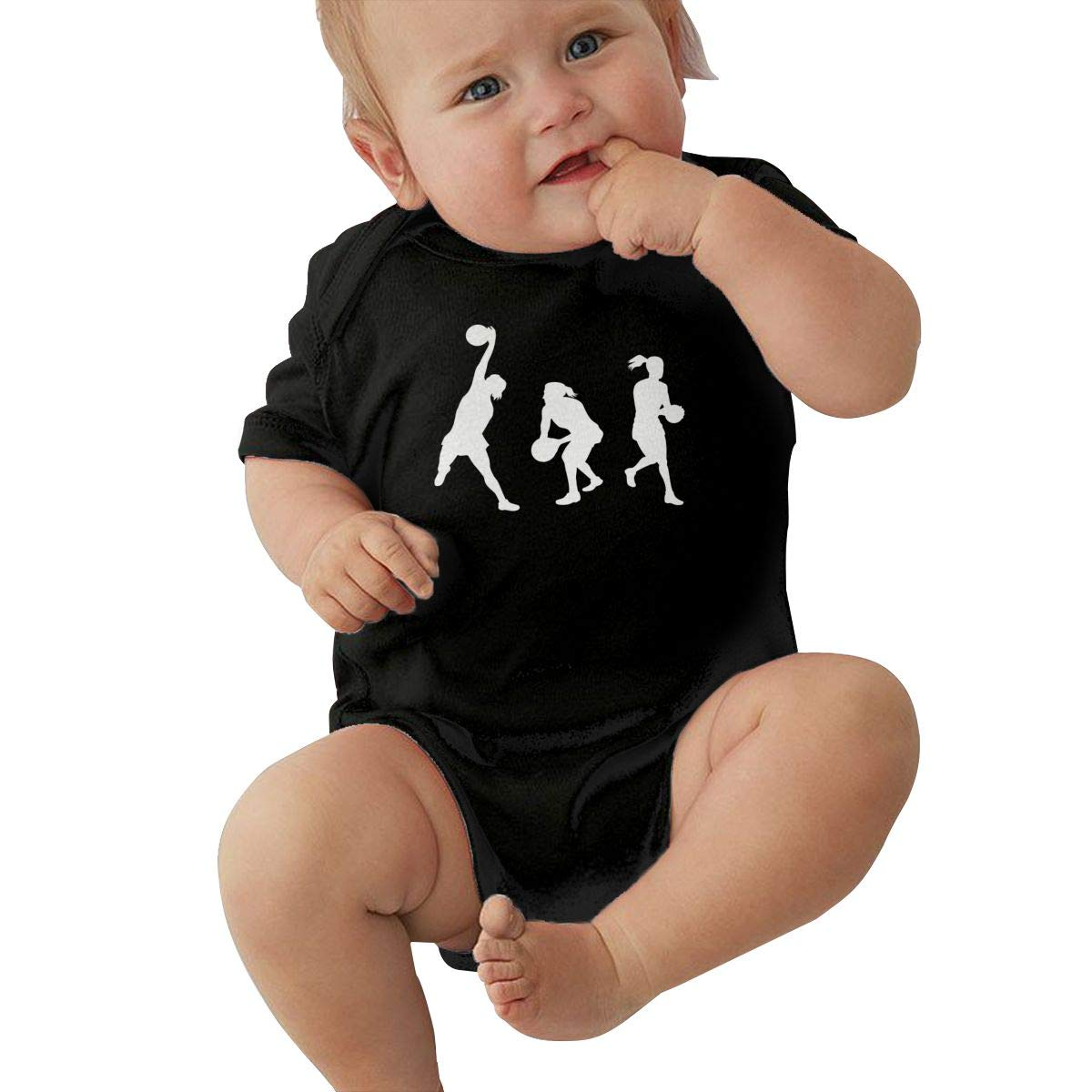 Toddler Baby Girl Boy Netball Player Catching with Ball Outfits Romper Jumpsuit Short Sleeve Bodysuit Tops Clothes