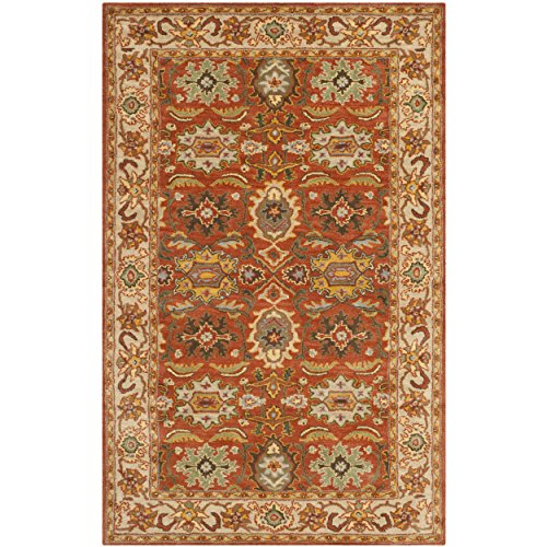 Safavieh Heritage Collection HG734D Handcrafted Traditional Oriental Rust and Beige Wool Area Rug (3' x 5') ()