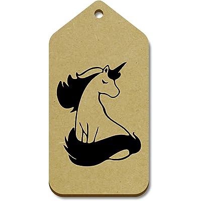 10 x Large 'Gorgeous Unicorn' Wooden Gift / Luggage Tags (TG00059154)