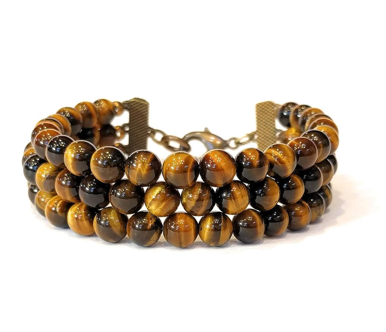 Tigers Eye 3 Strand Bracelet