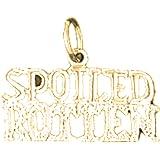22 mm Jewels Obsession 14K Yellow Gold Brat Saying Pendant