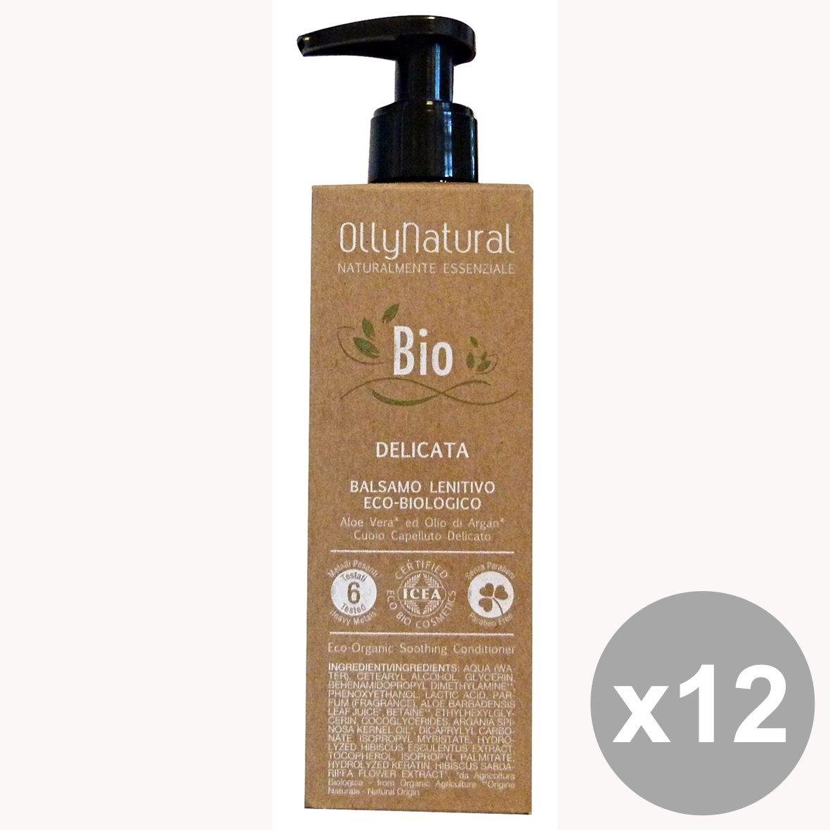 Set di 12 OLLYNatural Balsamo Bio-Delicata LENITIVO 200 Ml. Prodotti per capelli