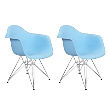 Charles U0026 Ray Eames Modern Armchair Side Chair With Metal Legs, Reception  Seat (Set