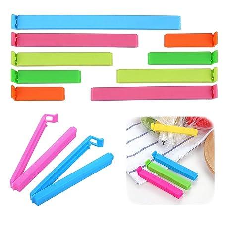 FINGOOO - 27 pinzas de sellado de plástico para bolsas de ...