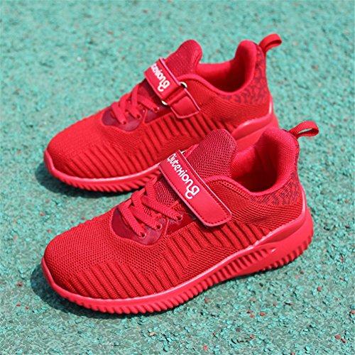 Niños Calzado deportivo Zapatillas de correr Zapatillas de baloncesto Zapatos casuales al aire libre de moda Ligero Transpirable Cómodo Rojo