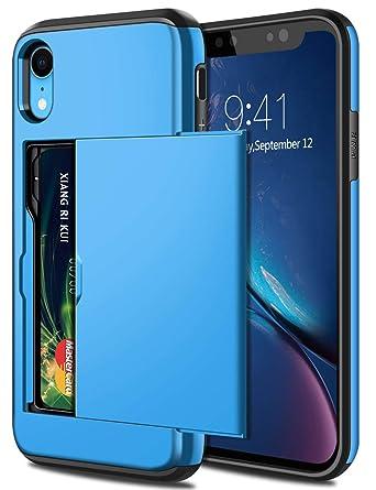 Amazon.com: Samonpow- Estuche para iPhone XR híbrido, iPhone ...