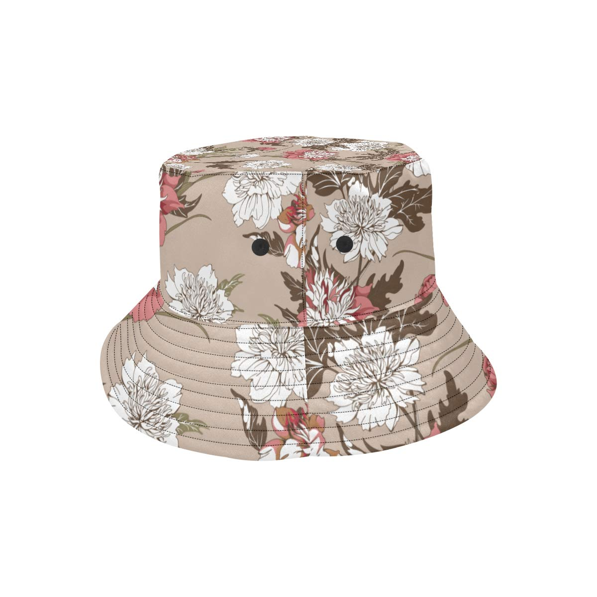 Wedding Elegant Flowers Fun New Summer Unisex Cotton Fashion Fishing Sun Bucket Hats for Kid Teens Women and Men with Customize Top Packable Fisherman Cap for Outdoor Travel