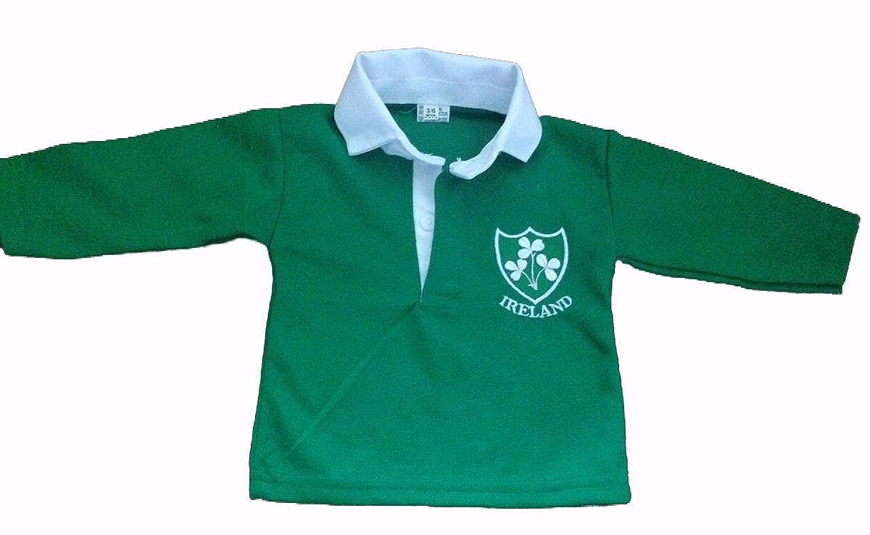 Polo de manga larga del equipo de rugby irlandés: Amazon.es: Ropa ...
